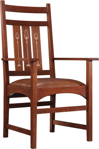 Mission Harvey Ellis Arm Chair Dining Chair Stickley - Jordans Interiors