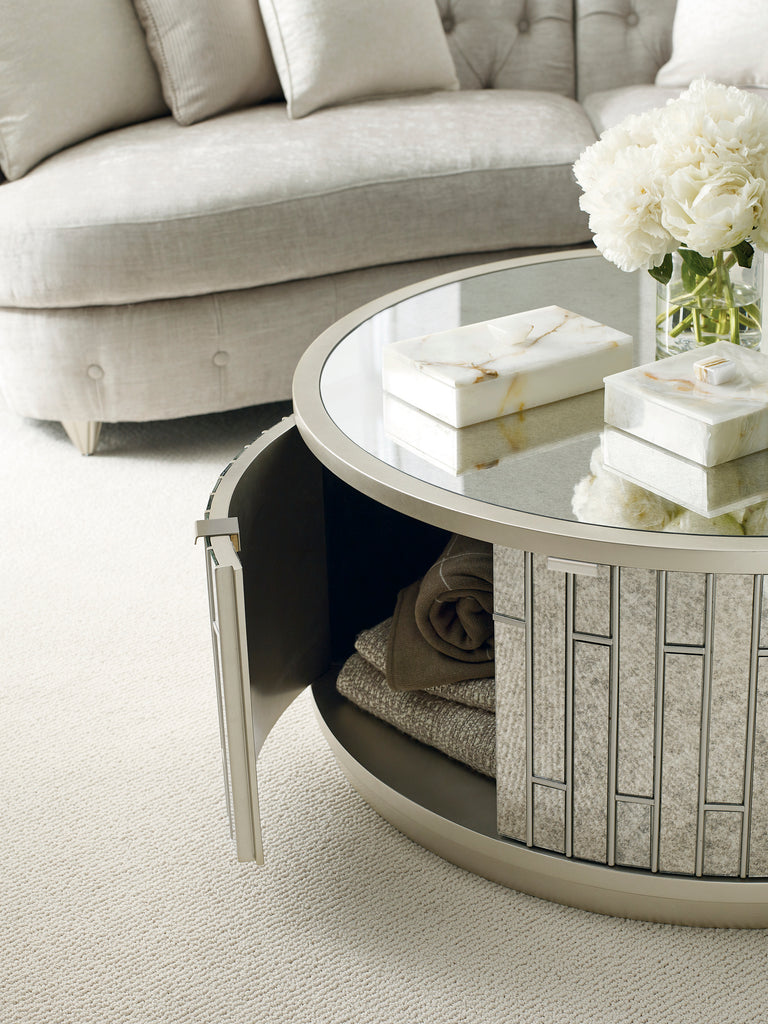 Avondale Round Cocktail Table Coffee Table Caracole - Jordans Interiors