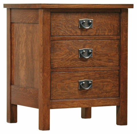 Three Drawer Night Stand Night Stand Stickley - Jordans Interiors