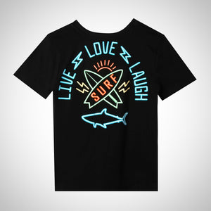 Black, Live, Love, Laugh and Surf; boys fashion; boys tee; must have; Summer boys fashion