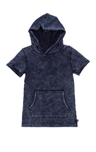 Appaman distressed hooded tee; Indigo blue; Vintage style cool kids fashion; cotton; style at play