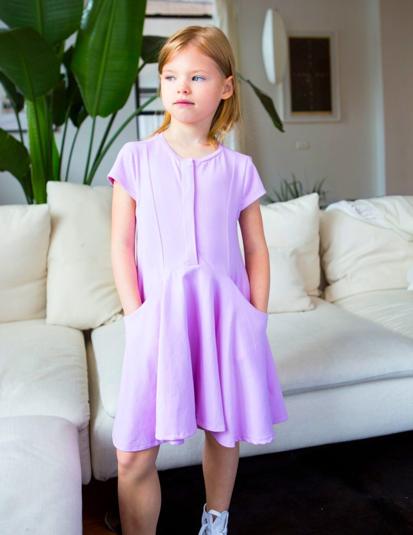 The Elena Dress, Lilac | Unique Finds for Kids