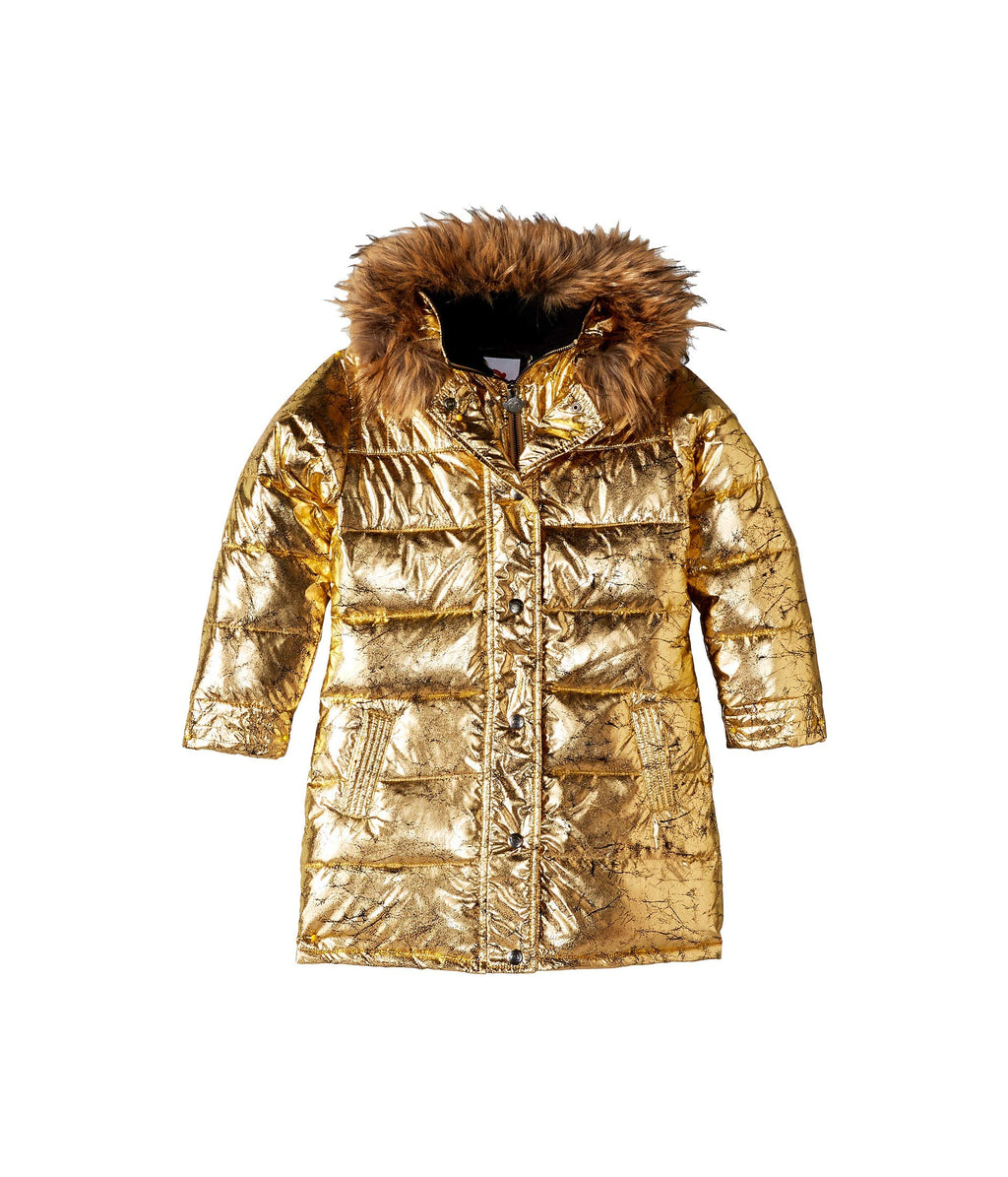 Antique Gold Long Down Coat | Unique Finds for Kids