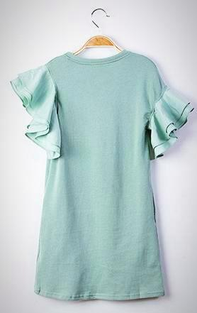 Seafood; mint green; girls trendy fashion; asymmetrical dress; size 9/10, Size 11/12; Must have girls fashion