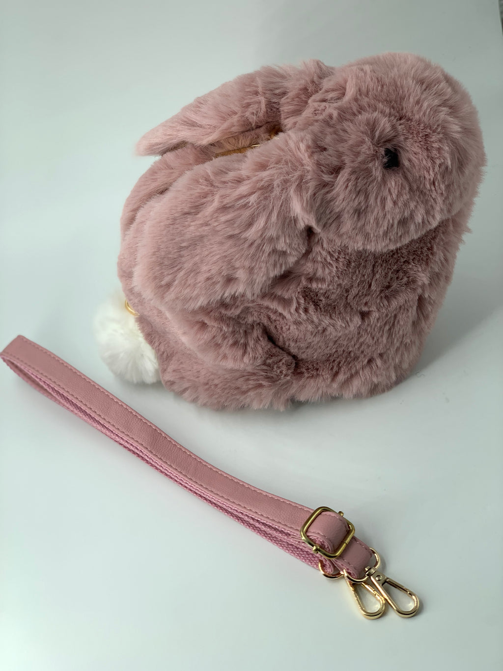 Faux Fur Fuzzy Bunny Purse | Unique Finds For Kids
