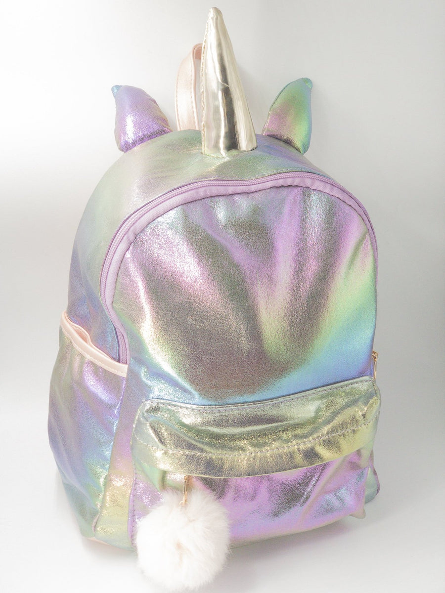 Iridescent Metallic Unicorn Backpack Unique Finds For Kids