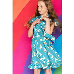 Unique Finds For Kids_ Unicorn Dress _ teal_lola and the boys
