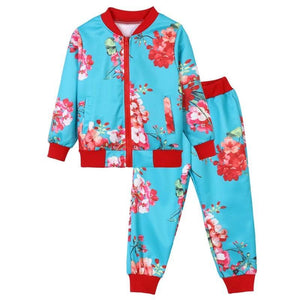 Girls Floral Track Suit as seen on Blue Ivy_UniqueFindsForKids.com
