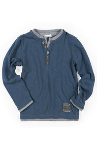 Blue long sleeve Appaman shirt - Back to school
