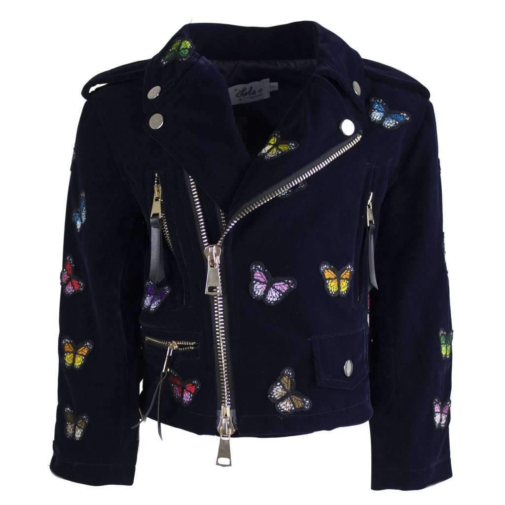 Size 12 Butterfly Moto Jacket - Tween - Back to School