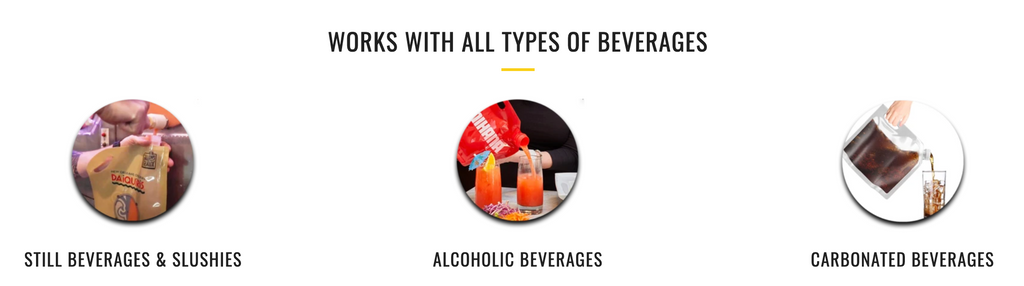 Beverage Bags work with all types of beverages.
