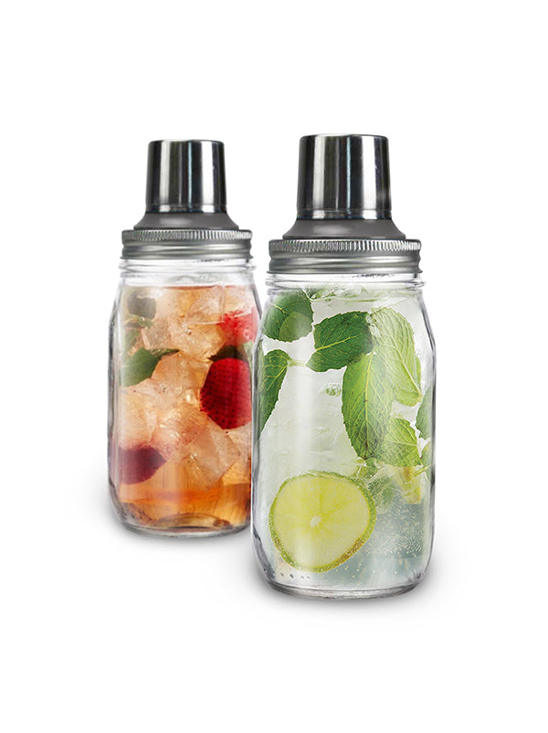 32oz Mason Jar Cocktail Shaker Set (Case of 12)