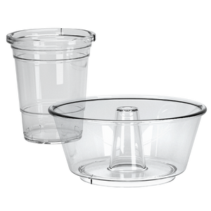 Acrylic Grub Tub | One-Handed Drink & Snack Solution with Straw (Case of 12)