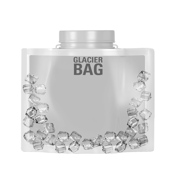 Glacier Bags $3 | Solution to Ice-Cold Beverages | (Case of 12)