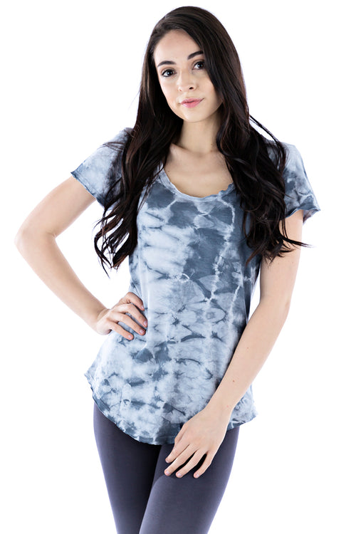 Short Sleeve Scoop Tee Crystal