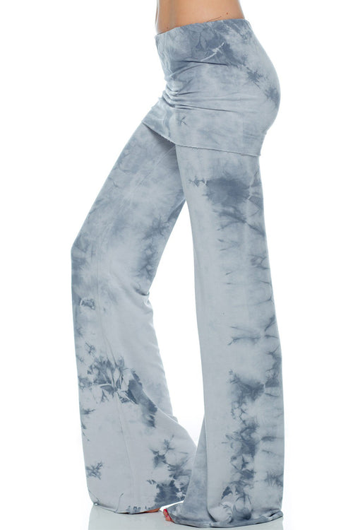French Terry Foldover Lounge Pants Crystal