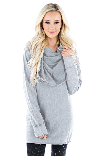 Pullover Cowl Tunic - LVR Fashion