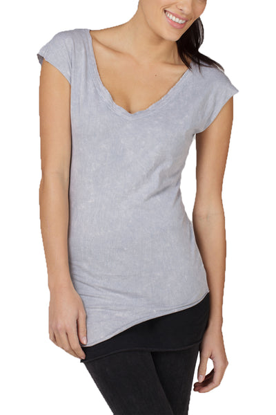 Angled Bottom Muscle Tee - LVR Fashion