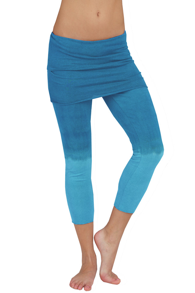 Lightweight Capris Dip Dye - LVR Fashion