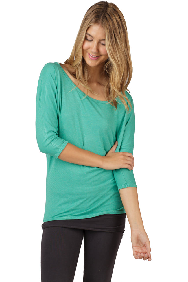 3/4 Sleeve Scoop Dolman