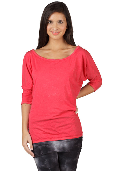 3/4 Sleeve Scoop Dolman - LVR Fashion