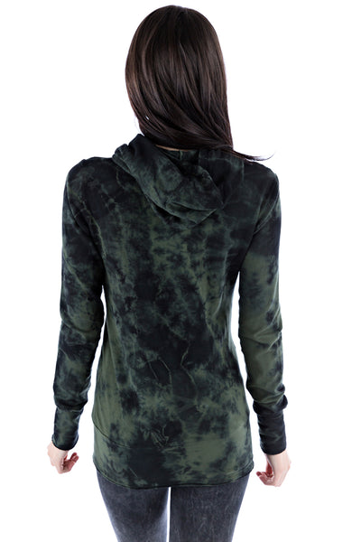 Asymmetrical Hoodie Crystal - LVR Fashion