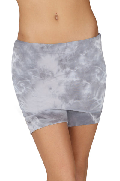 Foldover Yoga Shorts Crystal - LVR Fashion