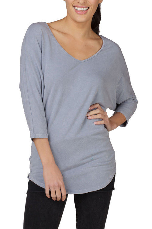 3/4 Sleeve V Dolman - LVR Fashion