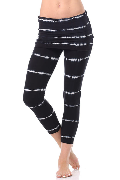 Lightweight Foldover Capris Bamboo - LVR Fashion