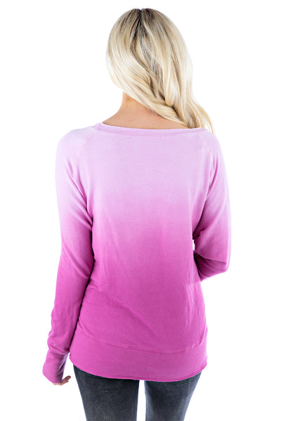 Raw Pullover Ombre
