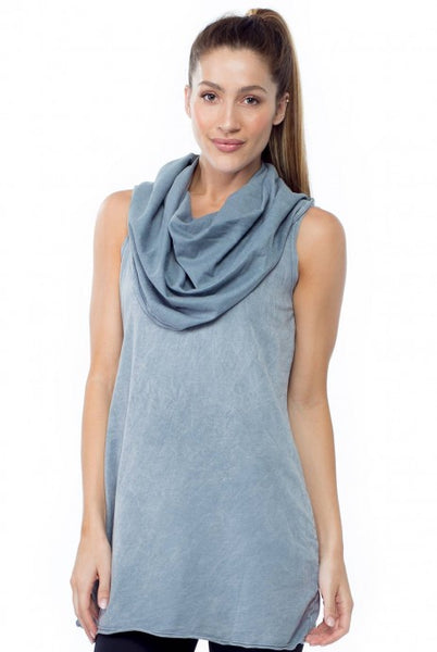 Sleeveless Cowl Tunic - LVR Fashion