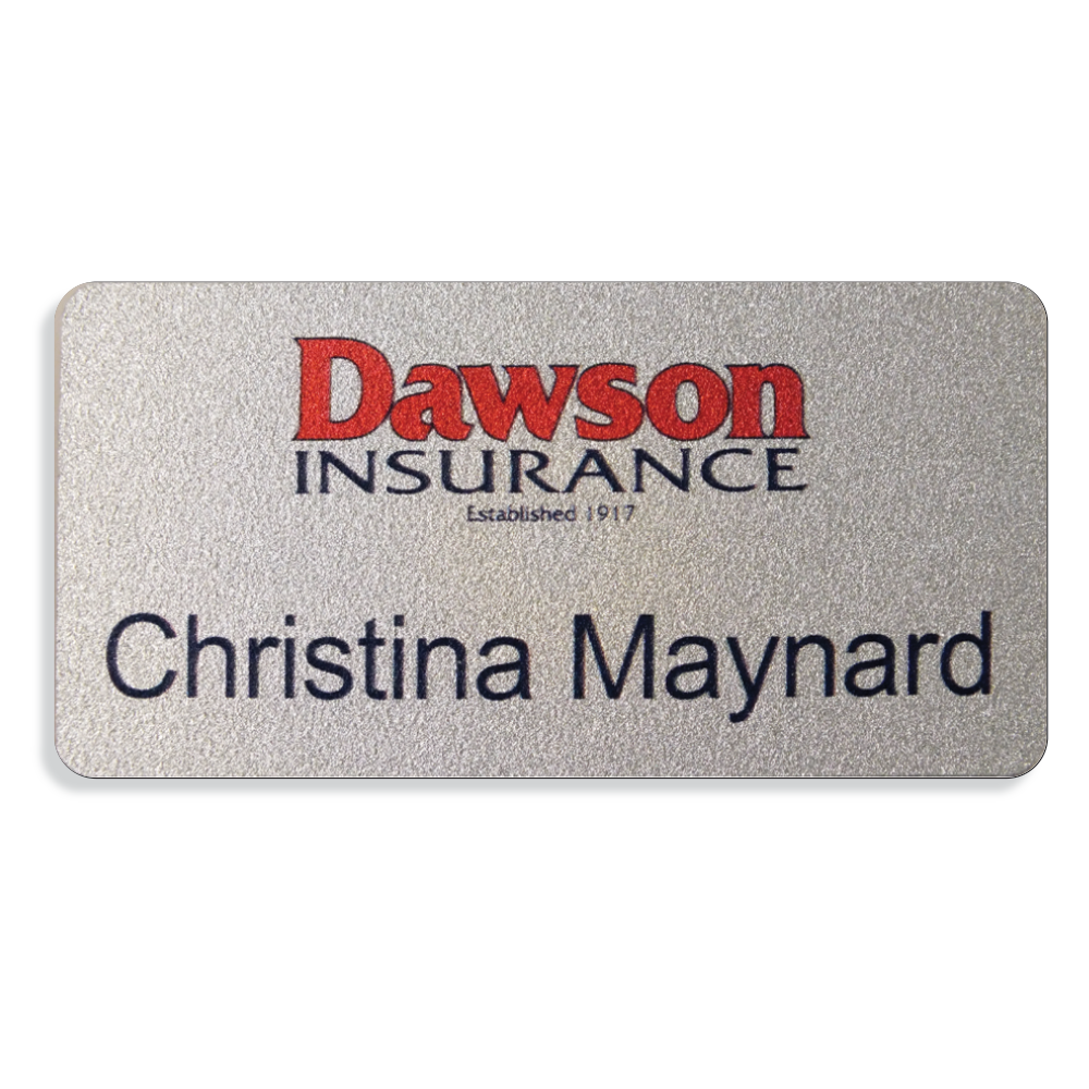 Badges w/Swivel Clip - Silver PVC
