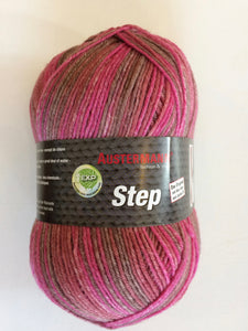 Austermann Step #345 Pink/Brown Stripes