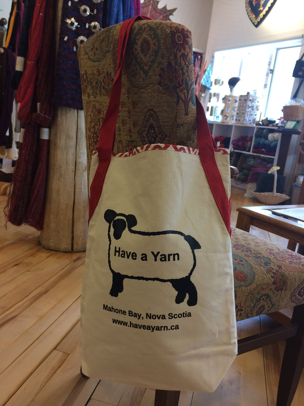 Have a Yarn Canvas Tote Bag