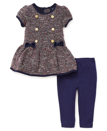 Conjunto de vestido con leggings / bucle