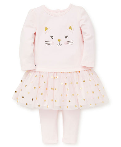 Playera tutu con leggings / gatita feliz