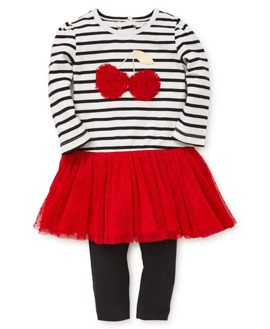 Playera tutu con leggings / cereza