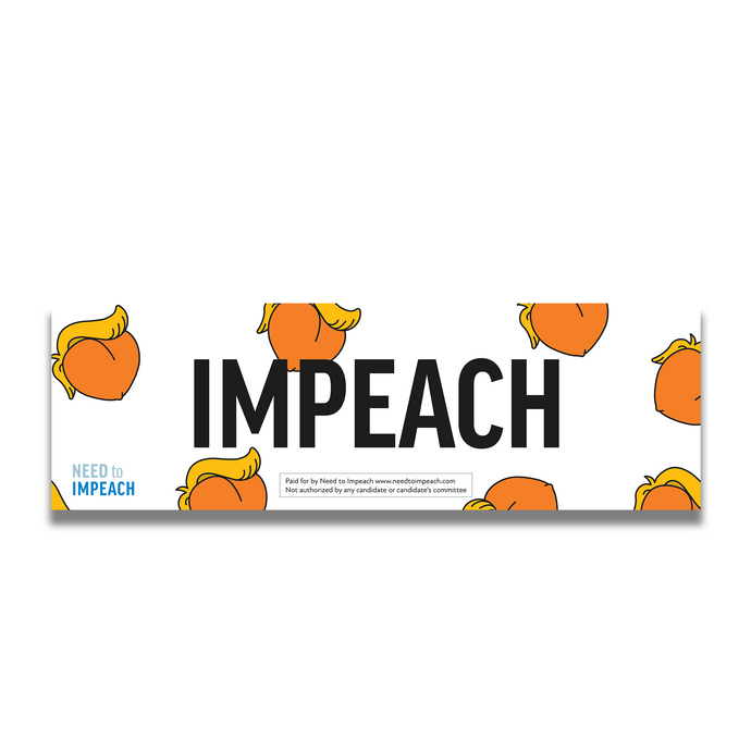 IMPEACH Peachy Bumper sticker