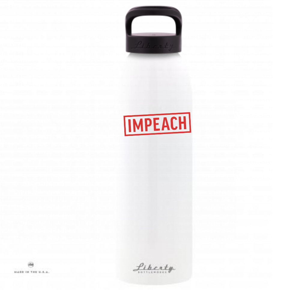 IMPEACH Stamp Water Bottle