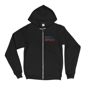Need to Impeach Zip-Up Hoodie