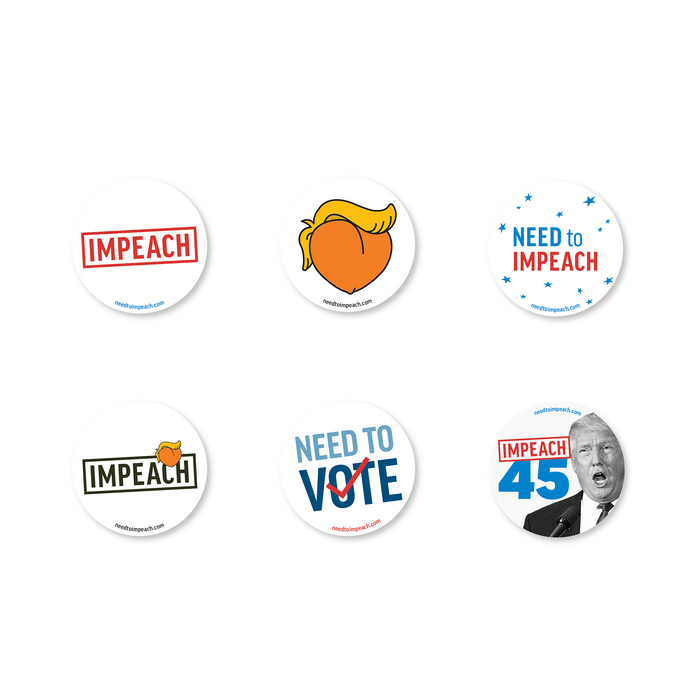 Need to Impeach Sticker 6-pack