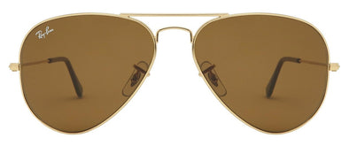 Kính Rayban aviator gold brown RB3025-001/33-Straight