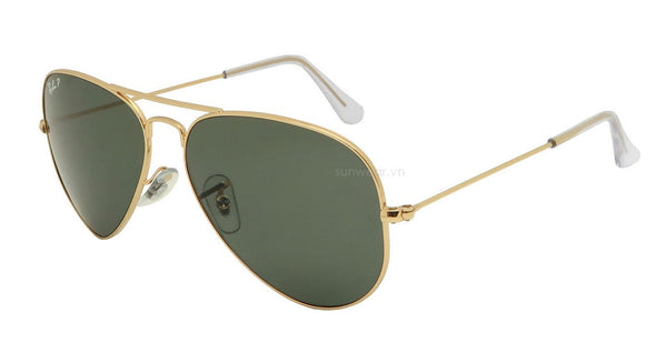Rayban 3025 polarized gold green RB3025-001/58(62)-Angle