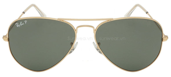 Rayban 3025 polarized gold green RB3025-001/58(62)-Front