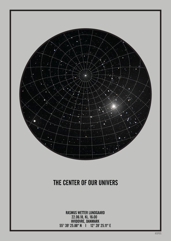 The center of our universe plakat - den perfekte barnedåbes gave