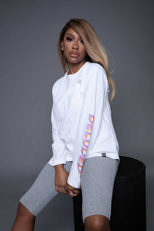 DELUDED LONG SLEEVE WHITE TSHIRT