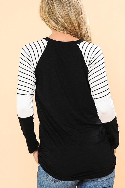 Black Striped Long Sleeve