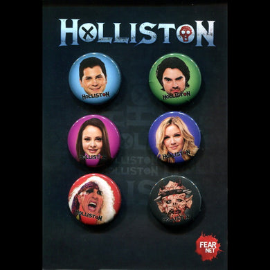 HOLLISTON - Character Buttons (Full Set!) **RARE!**