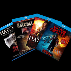 HATCHET - Full Franchise Autographed Blu-Ray Set