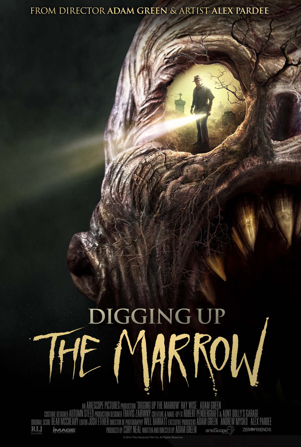 DIGGING UP THE MARROW - Autographed Full Size US Theatrical Poster